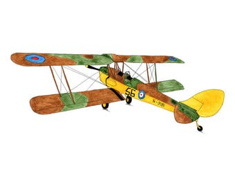 Tiger Moth Airplane - Collectible Print