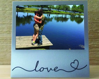 Love Silver Picture Frame
