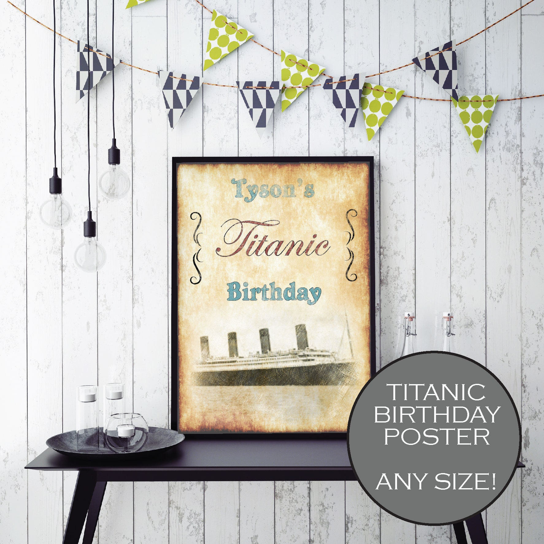 Titanic Birthday Party Poster DIGITAL Titanic Party Table