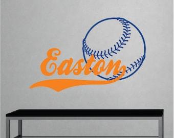 Baseball Wall Decal, Sports Wall Decal, Name Wall Decals, Wall Decal Boys Room, Wall Decor Bedroom, Custom Name Decal, Kids Room Sign, Theme