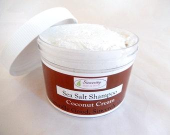 Sea Salt Shampoo Coconut Cream (Moroccan Argan Oil)   Vegan & Gluten Free!!!!