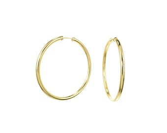 Large 14K Gold Filled Endless Hoop Earrings