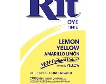 LEMON YELLOW Rit Dye Fabric Dye Rit Dye Powder Fabric Dye