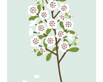 A4 Blossom print