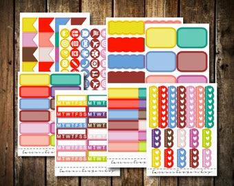 Spring Multicolor - Fits Erin Condren Vertical & Happy Planner