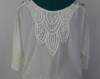 chiffon lace white dolman top by Alloy apparel