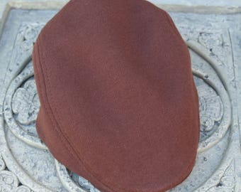 Kids Boys Brown Newsboy Cap - Toddler 18 mo 2T,3T,4T,5T,6y Chritmas gift,US, 100% cotton,