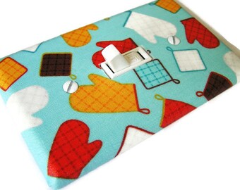OVEN MITTS POTHOLDERS Light Switch Cover Plate Switchplate Kitchen Decor