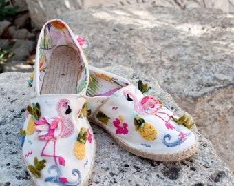 Handmade embroidery espadrilles