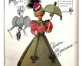 The Gibson Girl Collection of the Gay Nineties March Fashion Doll  Crochet Pattern  Annies Calendar Bed Doll Society 7703
