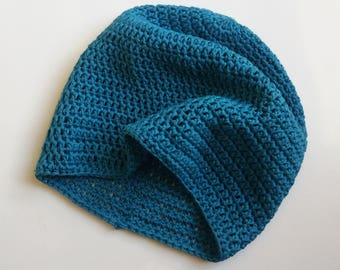 Crochet Pattern for Easy Beanie Hat - Instant Download - double knitting DK PDF