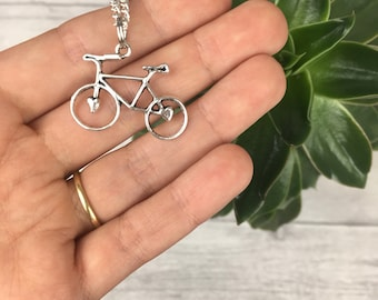 Bicycle necklace bike necklace cycling jewellery cyclist gift bicycle pendant bike jewelry bicycle gift fun necklace gift for her cycling