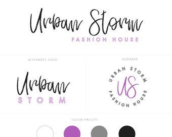 Branding Board | Branding Kit | Premade branding Kit | Mood Board | Branding | Brand | Brush font | Watermaks | Purple branding