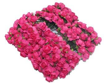 Lots of 25 flower rose embellishment applique paper