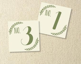 Printable Grecian Wedding Table Numbers