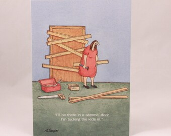 Vintage Funny Saying Card. Andrews Mc Meel by Close to Home. 1 Single Card with Envelope.
