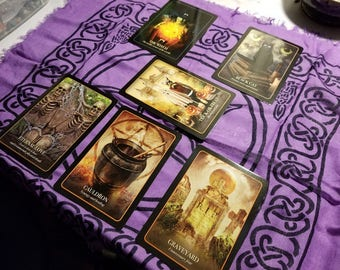 Samhain Reading - The Jack-O'-Lantern Divination Layout - The Halloween Oracle - 6 Card