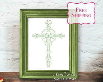 Personalized Celtic Cross gift | Name Cross art Print | St. Patrick's Day gift | Personalized Irish gift | personalized girl boy | FREE SHIP