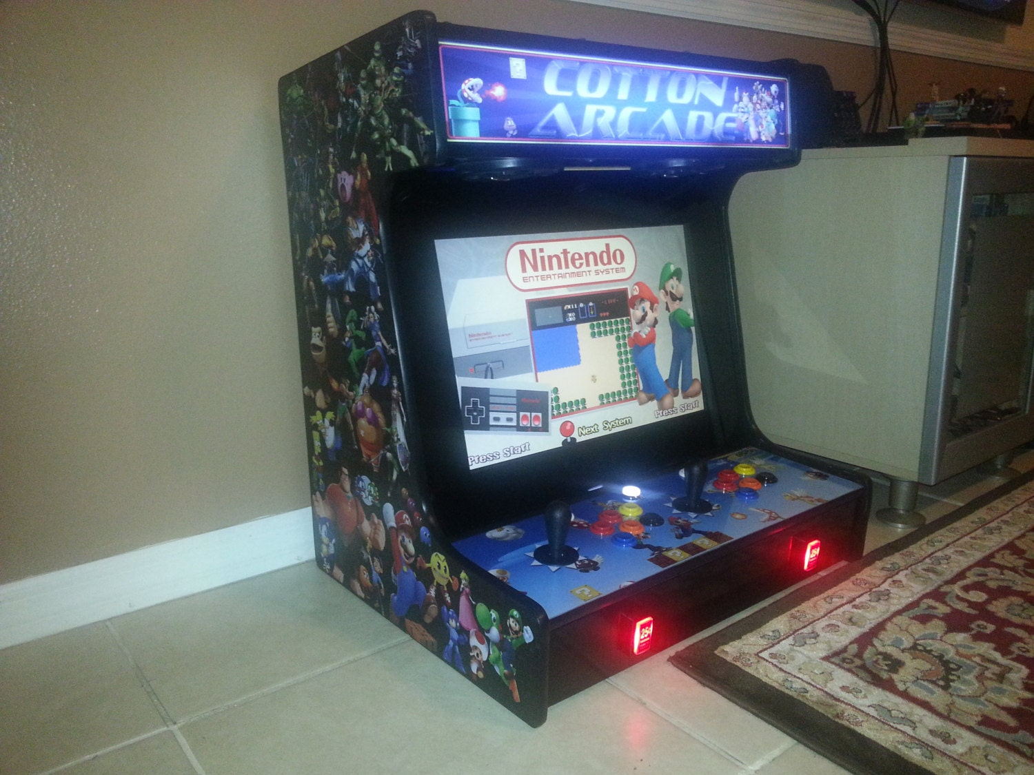 Bartop arcade cabinet plans templates downloadable price zoom malvernweather Gallery