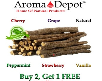 4 oz. Licorice Root Chew Sticks 100% Natural Organic Liquorice Buy 2, Get 1 FREE! Free Shipping.