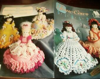 Doll Crocheting Patterns Tissue Cover Dolls Annie's Attic 87T54 Crochet Pattern Leaflet