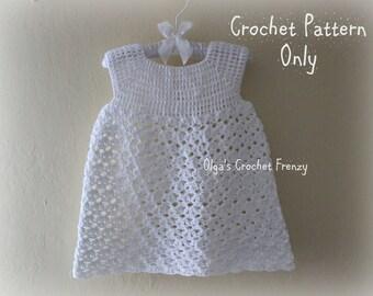 Summer Dress Crochet Pattern, Size 3-6 Months, Baby Lace Dress, Instant Download