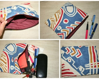 Feminine Products Pouch, Big Colorful Pouch, Handmade Cotton Pouch ,Zipper Pouch, Cotton Pouch, Cosmetics Pouch, Travel Pouch