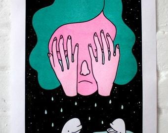 Beluga tears / Risograph print