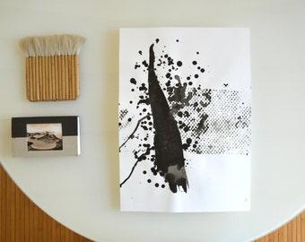 Original abstract art, abstract drawing, black and white abstract art, ink art, art, abstract art painting, minimalist art, modern art, art