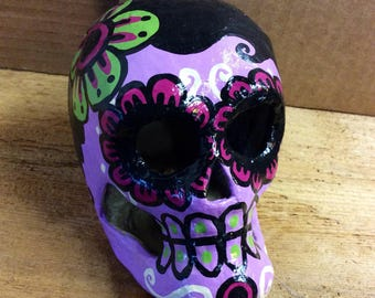 Day of the Dead Paper Mache Sugar Skull style