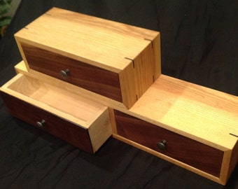 Stacked hand made drawer set