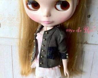 rêve de Rui* Blythe - Military lace patched suede jacket