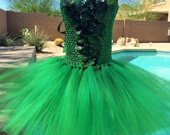 Inspired Poison Ivy tutu dress, Halloween tutu costume,super hero tutu dress