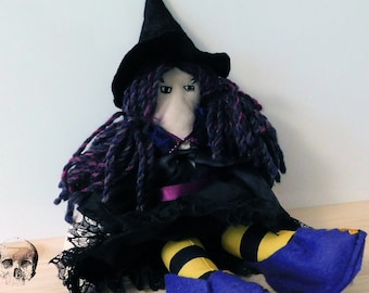 """Small Witch Art Doll. Collectible. 10"""""""