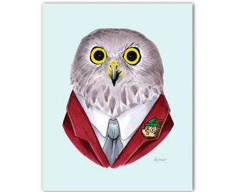 Powerful Owl print 5x7
