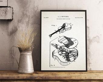 Martin Guitar Patent | Martin Guitar Poster | Martin Guitar | Guitar Patent Poster | Acoustic Guitar | Guitar Patent Art |Martin| P532