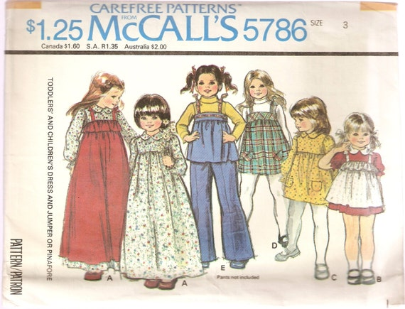 VINTAGE McCall\'s Sewing Pattern 5786 Children\'s