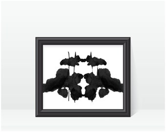 Psychological Art Rorschach Ink Blot Art print no 6
