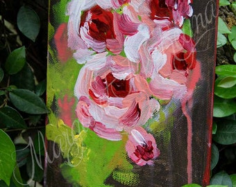 """Abstract Floral Original Canvas Art - """"Pursuit of Happiness"""""""