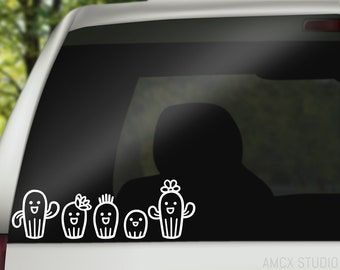 Family Decal / Stick Figure Family Decal / Cactus Decal / Cactus Family Decal / Cactus Family / Cute Family Car Decal