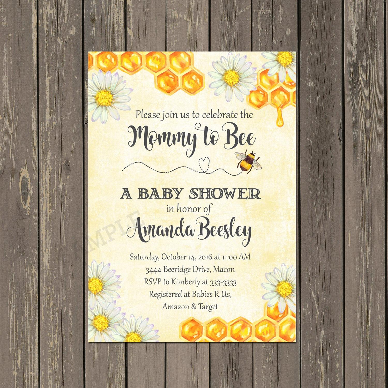Bee Baby Shower Invitation Bumblebee Baby Shower Invitation