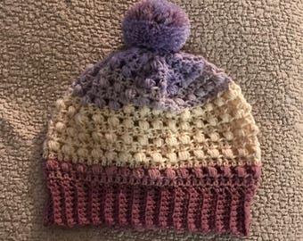 Slouchy Hat with Pom Pom