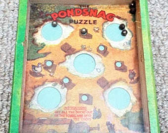 Vintage Pondsnag Dexterity Puzzle Game - R. Journet