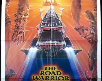 "THE ROAD WARRIOR ~ U.S. 1 Sheet Original 1982 ~ Condition Very Fine 27""x41"" ~ Hot Fantasy Art by Commander! Mel Gibson as Mad Max!"