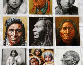 Set of 9 POSTCARDS with Stu Braks' Paintings, American Indian Series 2