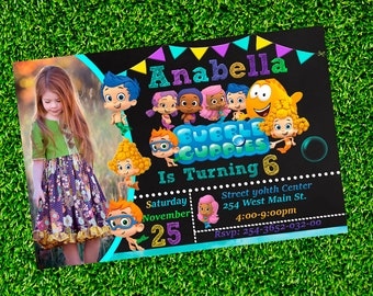 Bubble Guppies Invitation-Bubble Guppies Invite-Bubble Guppies Birthday Invitation-Bubble GuppiesParty-Printable Personalized