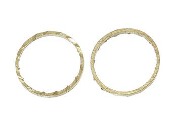 Brass Textured Closed Soldered Jump Rings/Connectors