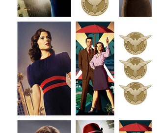 Agent Carter Nail Decals