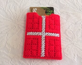 Red Wrapped Gift Gift Card Holder
