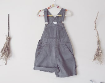 Olive Green Overall Shorts